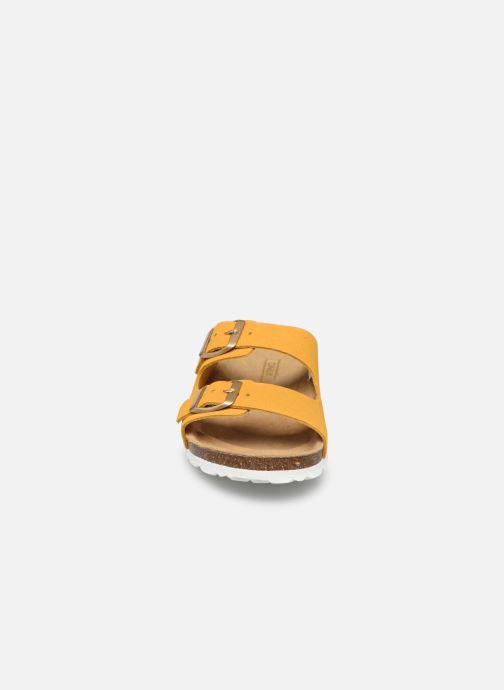 Clogs & Pantoletten ONLY ONLMADISON SUEDE SLIP ON gelb schuhe getragen