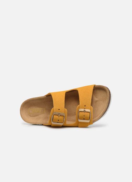 Clogs & Pantoletten ONLY ONLMADISON SUEDE SLIP ON gelb ansicht von links