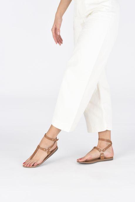 Sandalen ONLY ONLMATHILDA PU CROC SLIP ON braun ansicht von unten / tasche getragen