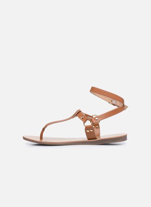 Sandalen ONLY ONLMATHILDA PU CROC SLIP ON braun ansicht von vorne