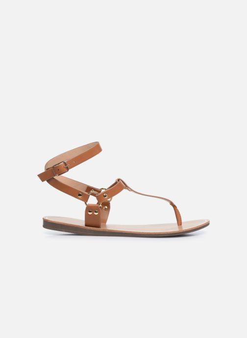 Sandalen ONLY ONLMATHILDA PU CROC SLIP ON braun ansicht von hinten
