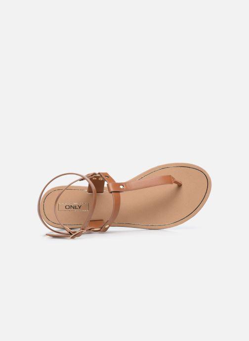 Sandalen ONLY ONLMATHILDA PU CROC SLIP ON braun ansicht von links