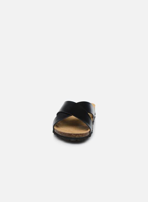 Mules et sabots ONLY ONLMADISON CROSS LEATHER SLIP ON Noir vue portées chaussures
