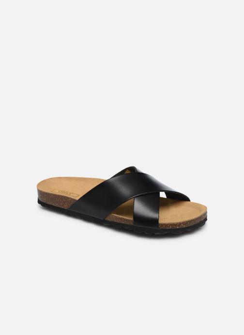 Only Onlmadison Cross Leather Slip On (negro) - Zuecos Chez