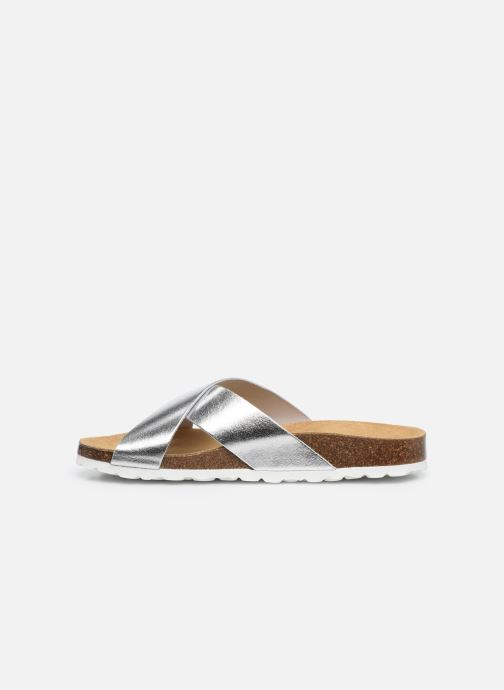 Mules et sabots ONLY ONLMADISON CROSS LEATHER SLIP ON Argent vue face