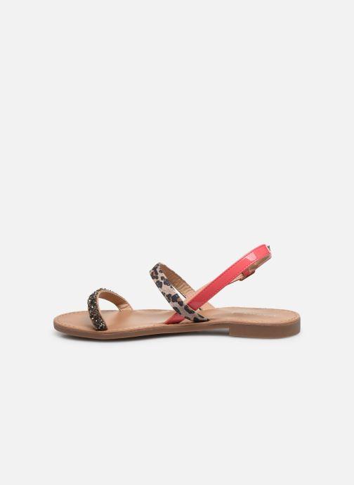 Sandales et nu-pieds ONLY ONLMELLY PU STONE SANDAL Rose vue face