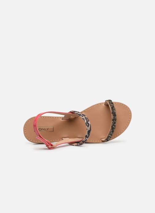 Sandales et nu-pieds ONLY ONLMELLY PU STONE SANDAL Rose vue gauche
