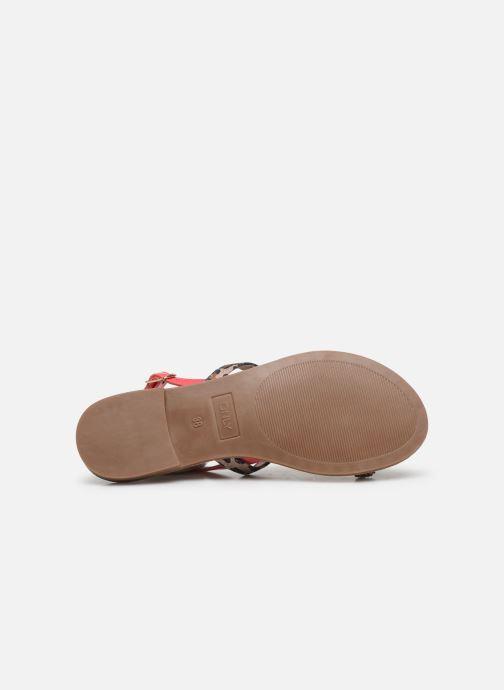Sandales et nu-pieds ONLY ONLMELLY PU STONE SANDAL Rose vue haut