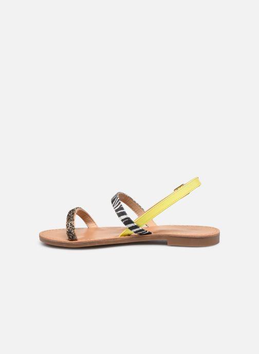 Sandalen ONLY ONLMELLY PU STONE SANDAL Geel voorkant