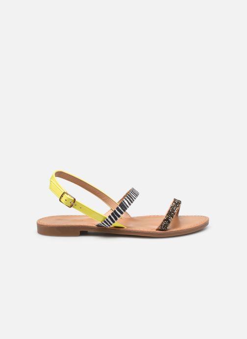 Sandalen ONLY ONLMELLY PU STONE SANDAL Geel achterkant