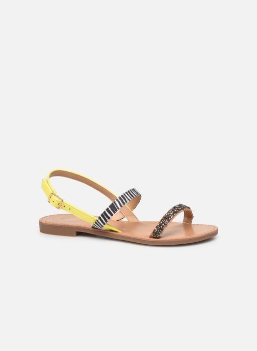 Sandales et nu-pieds ONLY ONLMELLY PU STONE SANDAL Jaune vue détail/paire