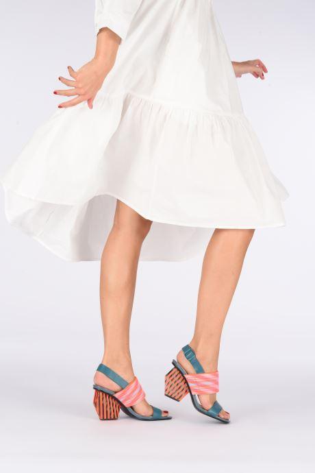 Sandales et nu-pieds United Nude LEONA OP SANDAL HI Bleu vue bas / vue portée sac