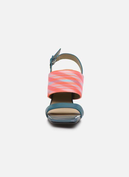 Sandales et nu-pieds United Nude LEONA OP SANDAL HI Bleu vue portées chaussures