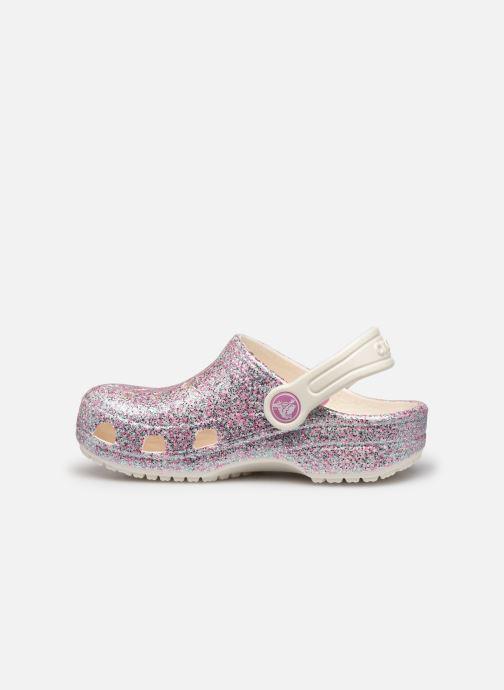 Sandales et nu-pieds Crocs Classic Glitter Clog Kids Marron vue face