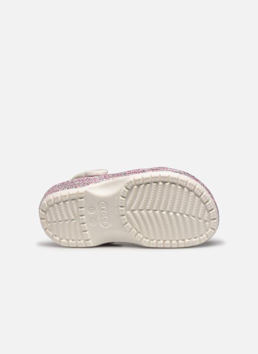 Sandales et nu-pieds Crocs Classic Glitter Clog Kids Marron vue haut
