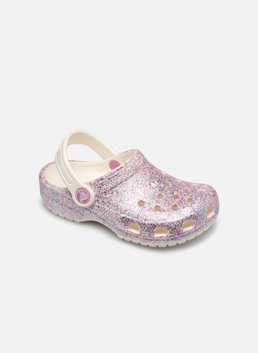 Sandales et nu-pieds Crocs Classic Glitter Clog Kids Marron vue détail/paire