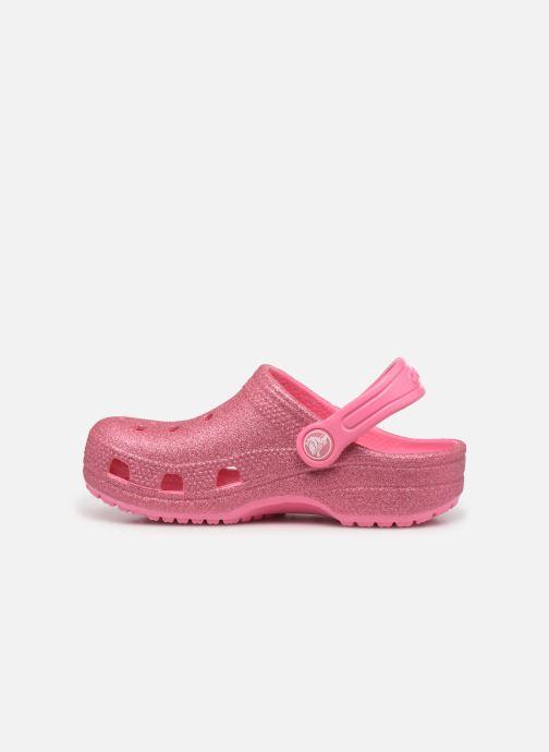 Sandalen Crocs Classic Glitter Clog Kids Roze voorkant