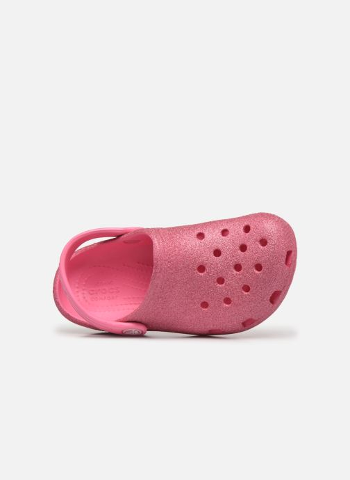 Sandalen Crocs Classic Glitter Clog Kids Roze links