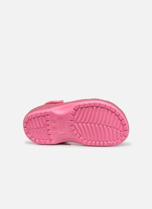 Sandalen Crocs Classic Glitter Clog Kids Roze boven