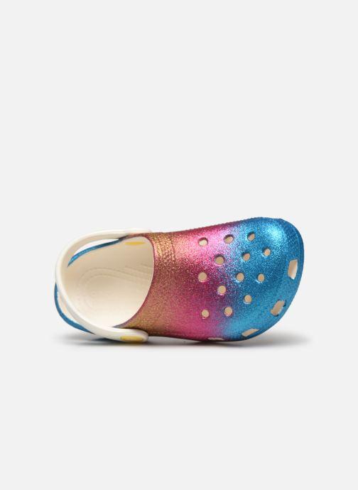 Sandalias Crocs Classic Ombre Glitter Clog Kids Multicolor vista lateral izquierda