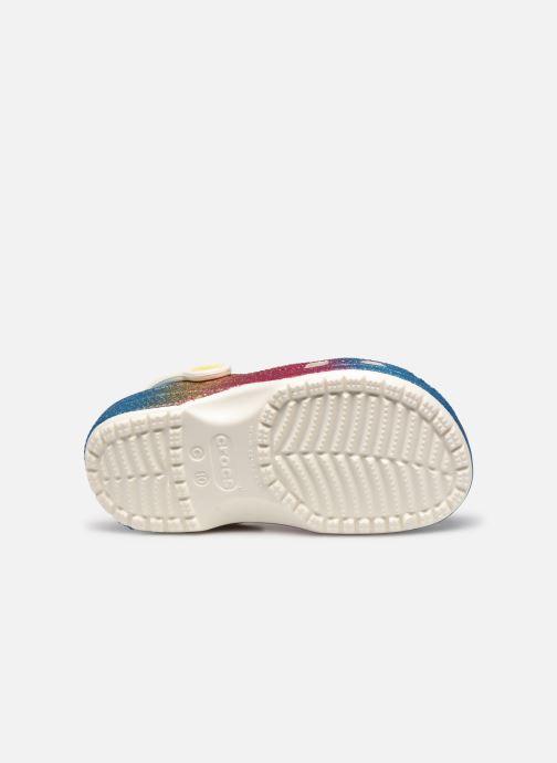 Sandalen Crocs Classic Ombre Glitter Clog Kids mehrfarbig ansicht von oben