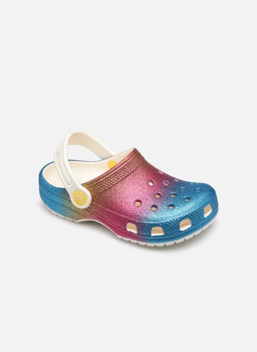 Sandalias Crocs Classic Ombre Glitter Clog Kids Multicolor vista de detalle / par