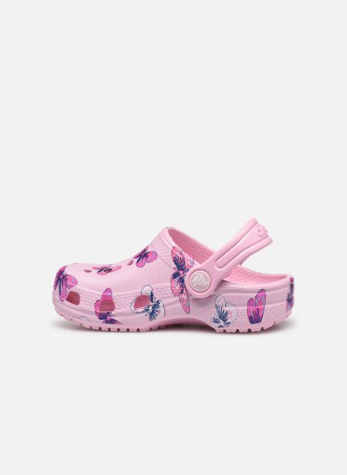 Sandales et nu-pieds Crocs Classic Butterfly Clog PS Rose vue face