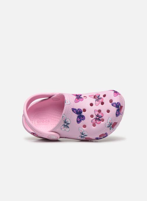 Sandales et nu-pieds Crocs Classic Butterfly Clog PS Rose vue gauche