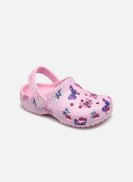 Sandales et nu-pieds Crocs Classic Butterfly Clog PS Rose vue détail/paire