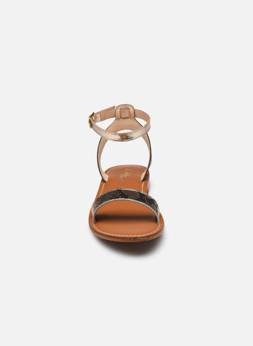 Sandales et nu-pieds L'Atelier Tropézien IL214 Or et bronze vue portées chaussures