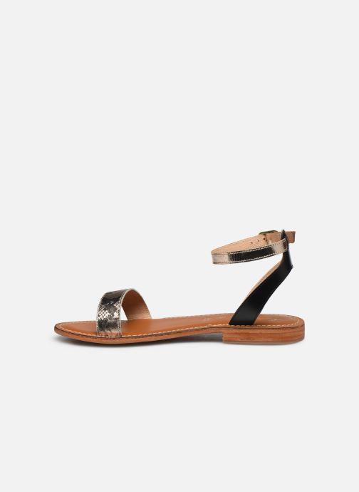 Sandales et nu-pieds L'Atelier Tropézien IL214 Or et bronze vue face