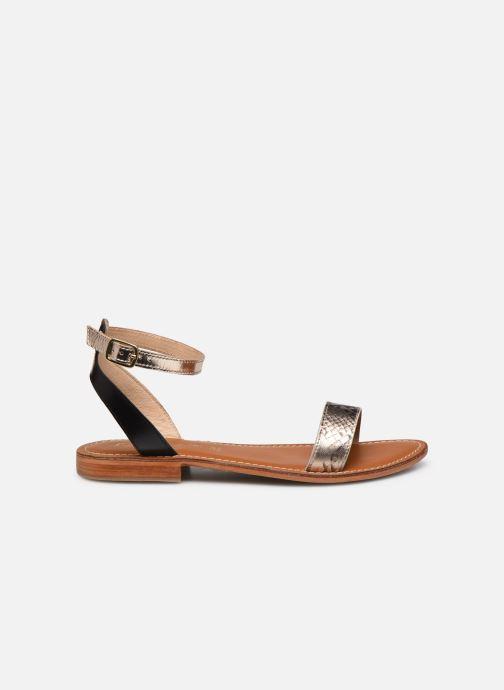 Sandales et nu-pieds L'Atelier Tropézien IL214 Or et bronze vue derrière