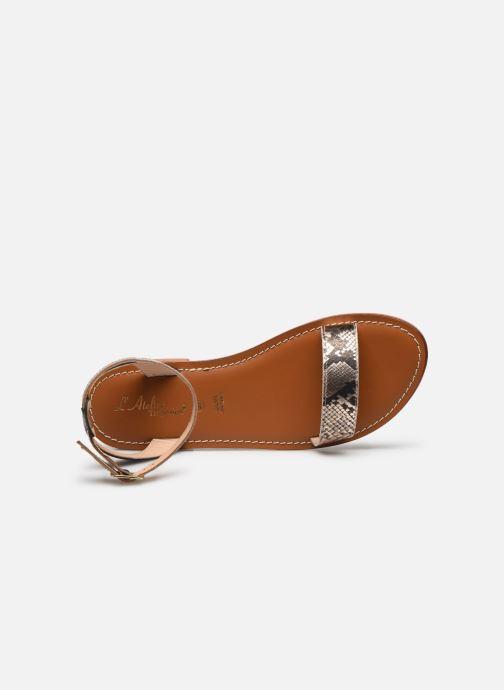 Sandales et nu-pieds L'Atelier Tropézien IL214 Or et bronze vue gauche