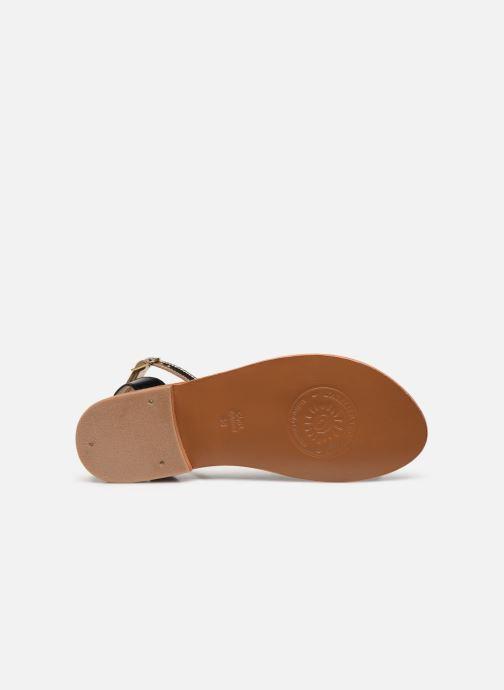 Sandales et nu-pieds L'Atelier Tropézien IL214 Or et bronze vue haut
