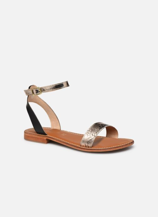 Sandales et nu-pieds L'Atelier Tropézien IL214 Or et bronze vue détail/paire