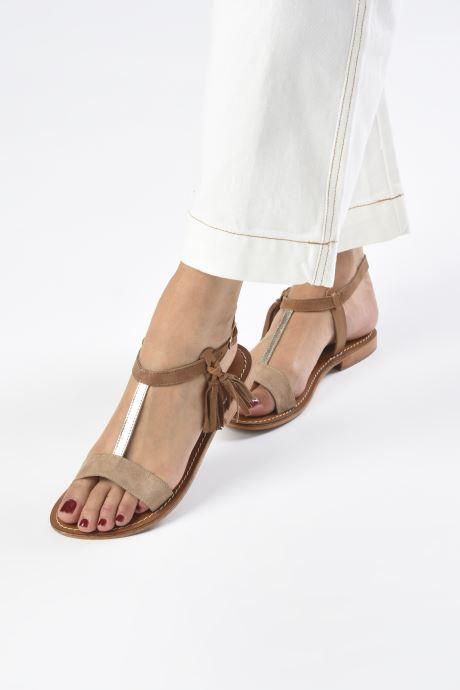 Sandali e scarpe aperte L'Atelier Tropézien IL213 Marrone immagine dal basso