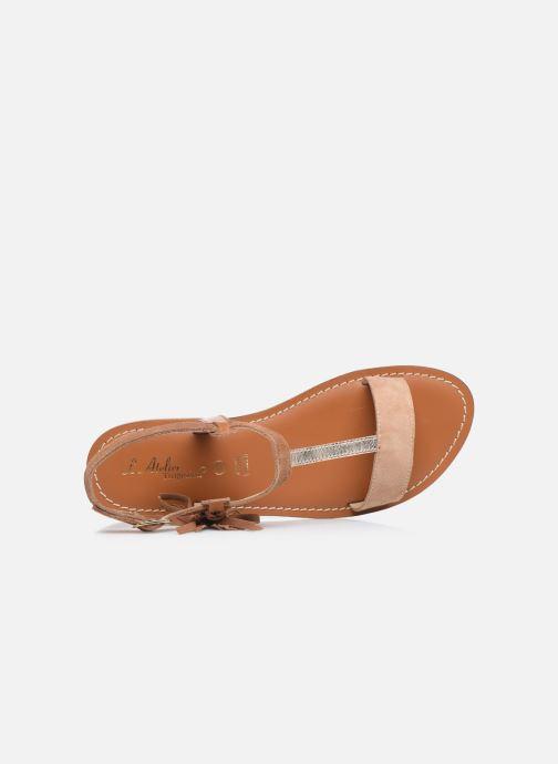Sandali e scarpe aperte L'Atelier Tropézien IL213 Marrone immagine sinistra