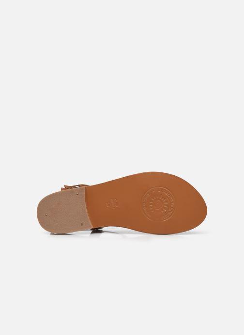 Sandales et nu-pieds L'Atelier Tropézien IL213 Marron vue haut
