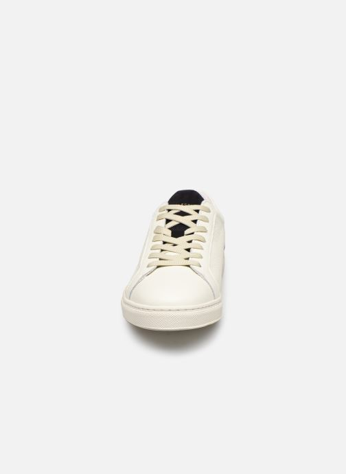 Baskets Selected Homme SLHDAVID CONTRAST TRAINER W Blanc vue portées chaussures