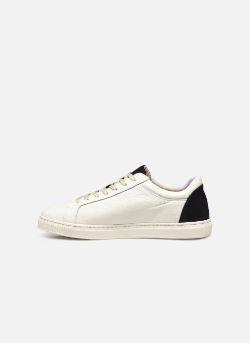 Baskets Selected Homme SLHDAVID CONTRAST TRAINER W Blanc vue face