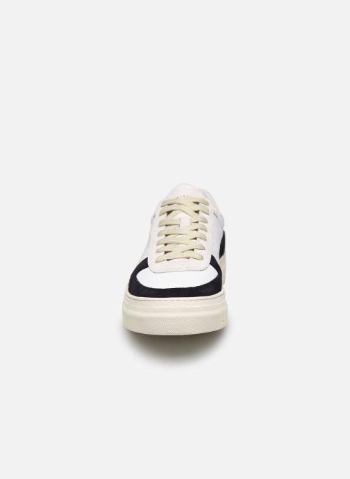 Baskets Selected Homme SLDURAN RETRO TRAINER W Blanc vue portées chaussures