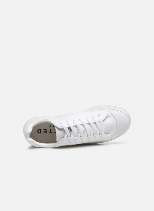 Sneaker Selected Homme SLHSIMON CANVAS TRAINER W weiß ansicht von links