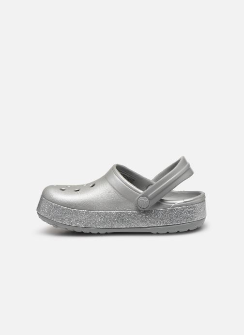 Sandalen Crocs Crocband Glitter Clog Kids Grijs voorkant