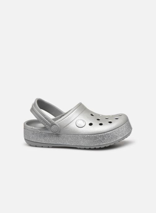 Sandalias Crocs Crocband Glitter Clog Kids Gris vistra trasera
