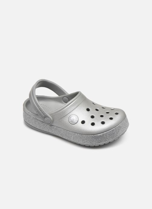 Sandalen Crocs Crocband Glitter Clog Kids grau detaillierte ansicht/modell