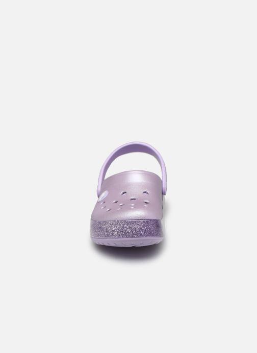 Sandales et nu-pieds Crocs Crocband Glitter Kids Violet vue portées chaussures