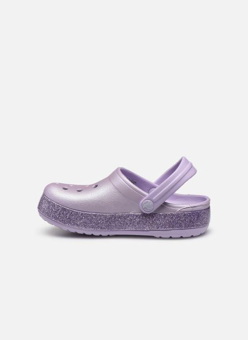 Sandales et nu-pieds Crocs Crocband Glitter Kids Violet vue face
