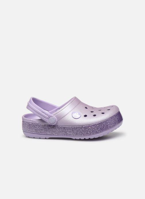 Sandales et nu-pieds Crocs Crocband Glitter Kids Violet vue derrière