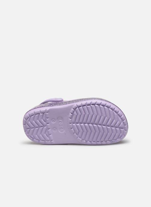 Sandales et nu-pieds Crocs Crocband Glitter Kids Violet vue haut
