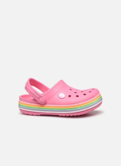 Sandalias Crocs Crocband Rainbow Glitter Kids Rosa vistra trasera